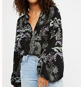 Free People Peacock Bloom Tunic Blouse
